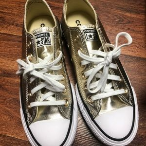 Converse CTAS OX metallic gold sneakers